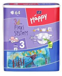 PLENY BELLA HAPPY MAXI 64ks 5-9kg